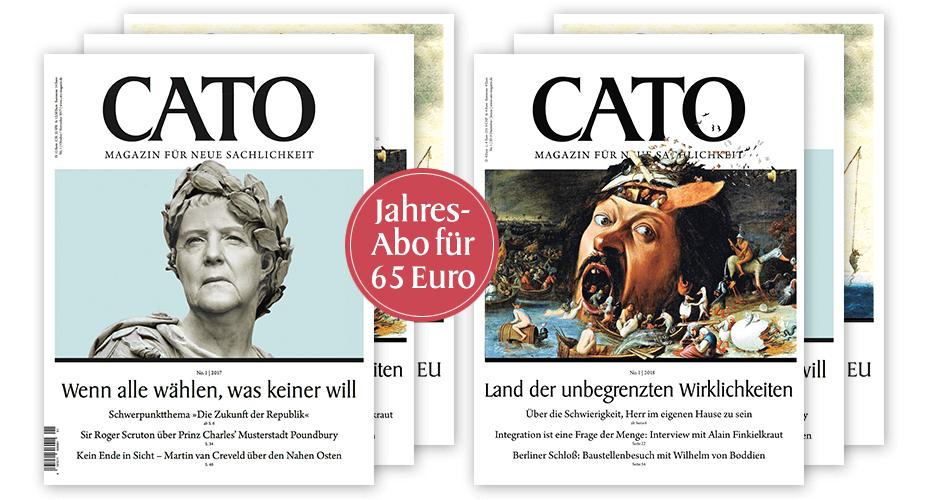 Ein Jahr CATO für nur 65 Euro (Jahresabo ab Ausgabe 1/2018)